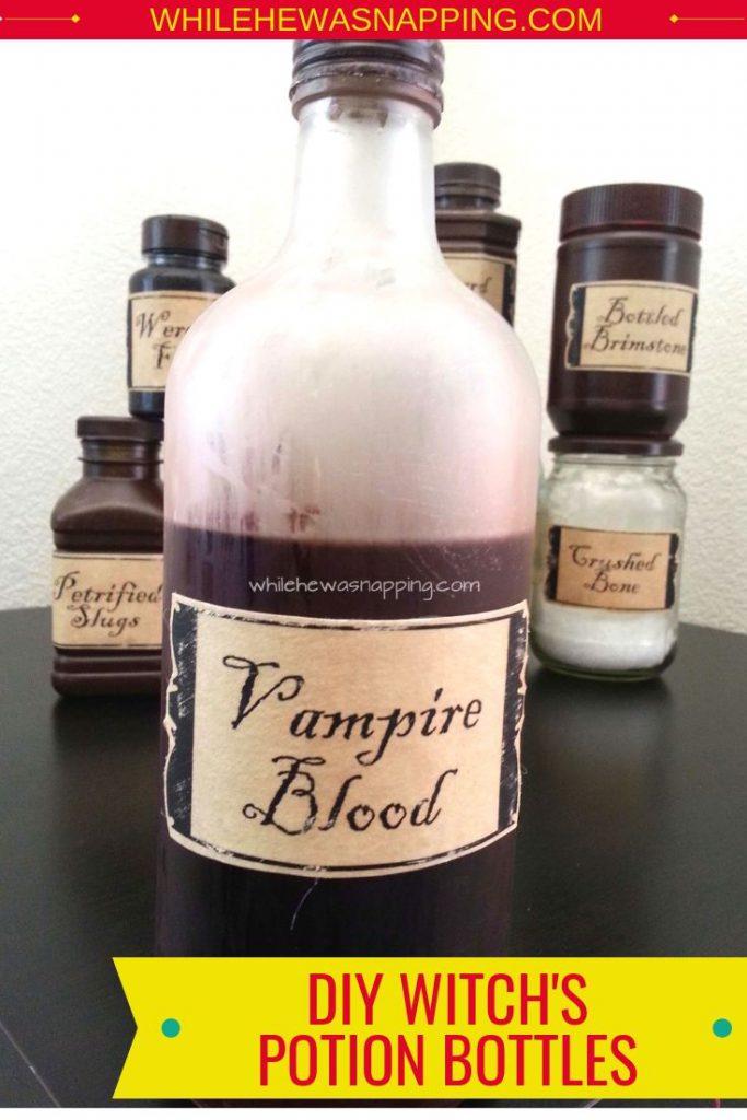 DIY Witch Potion Bottles