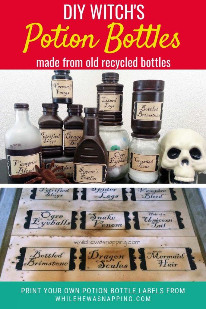 DIY Witch's Potion Bottles