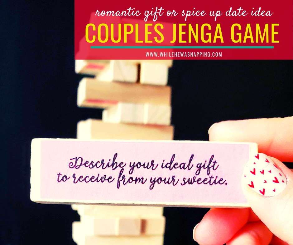 Couples Jenga: The Perfect At Home Date Night Game