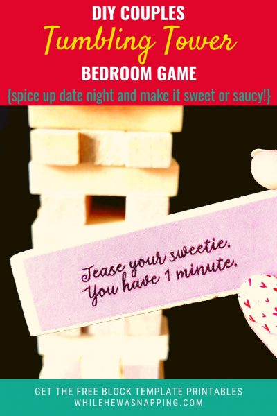 DIY Tumbling Tower Couples Jenga Bedroom Game