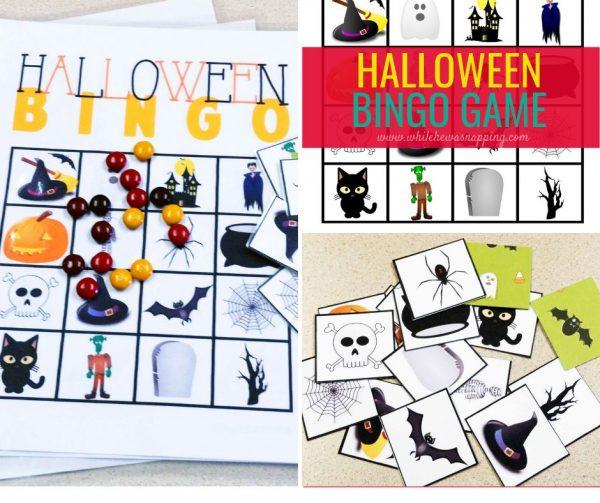 Halloween Bingo 5 Game Board Printables