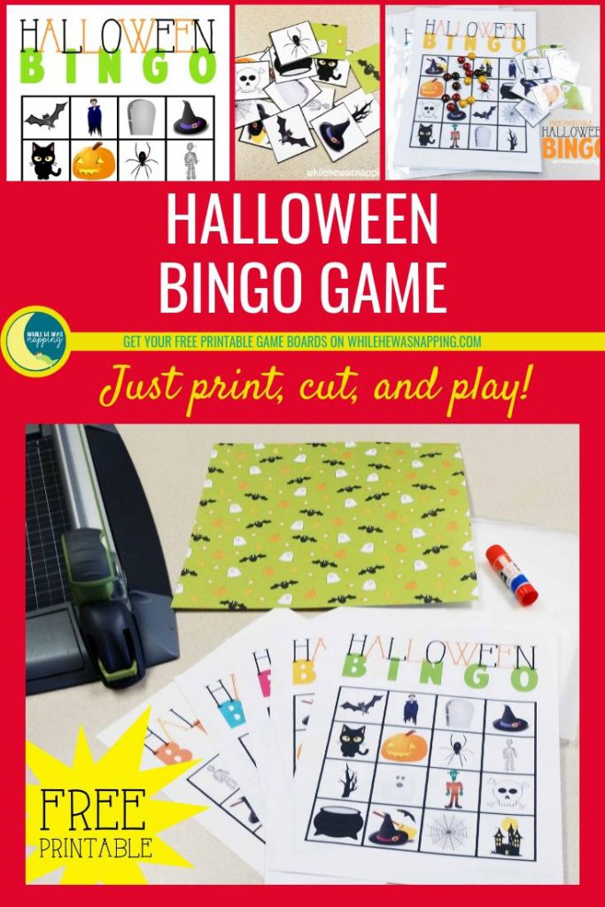 Halloween Bingo Game For Kids