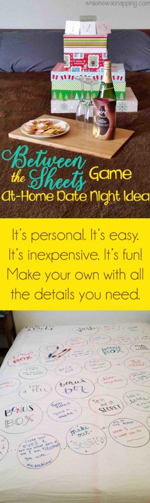Between the Sheets DIY Bedroom Game