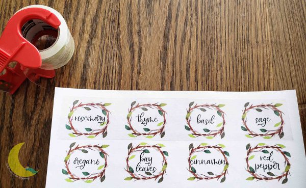 DIY Laser Printer Labels Cover with Tape
