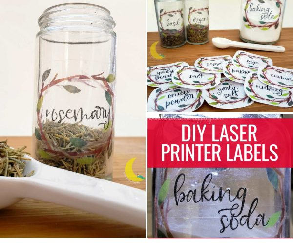 DIY Laser Printer Labels for Organizing