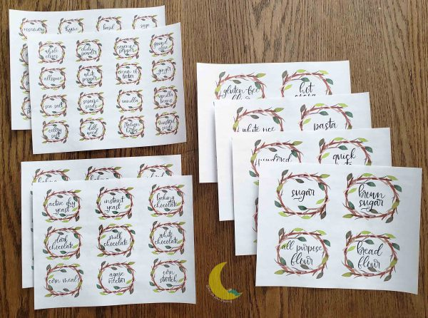 Kitchen Pantry DIY Laser Printer Labels