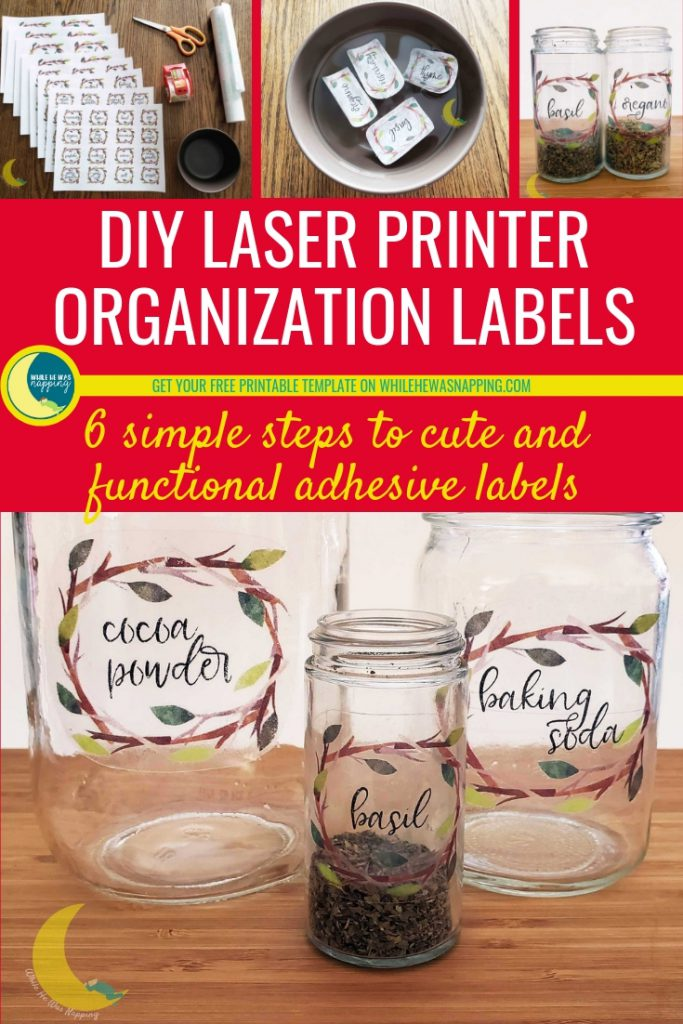 Organizing with DIY Laser Printer Labels
