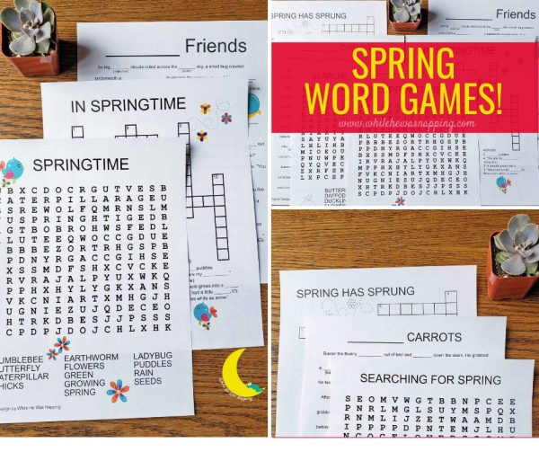 Printable Spring Word Games for Kids