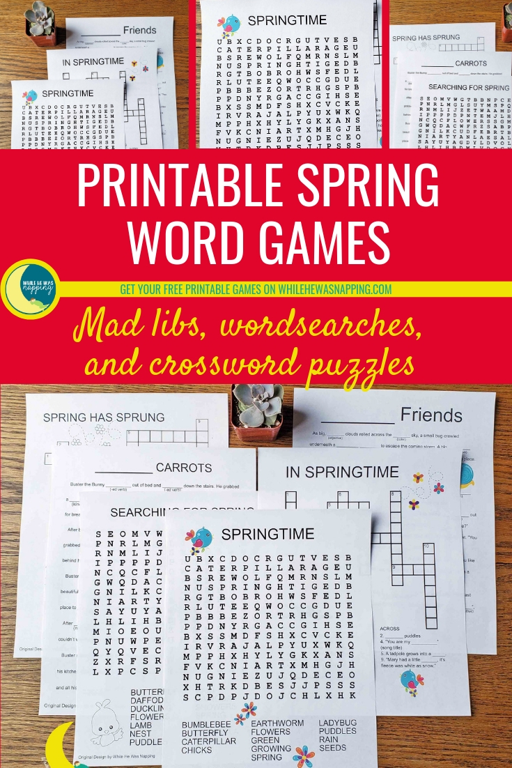 Printable Spring Word Games