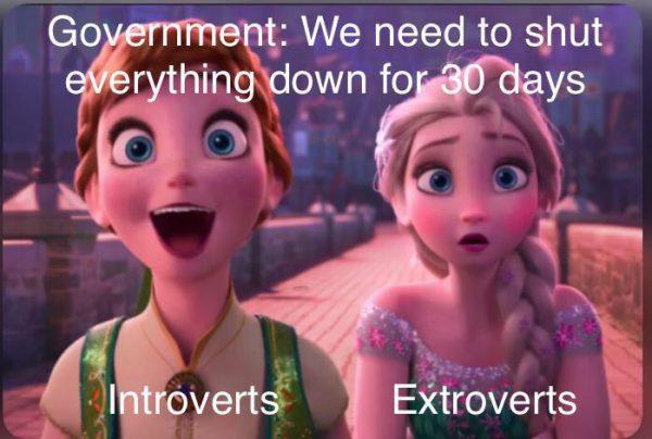 Anna vs Elsa Quarantine Meme