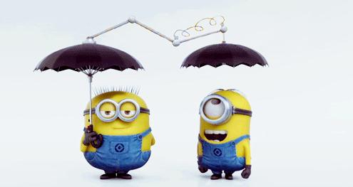 minion sharing umbrella