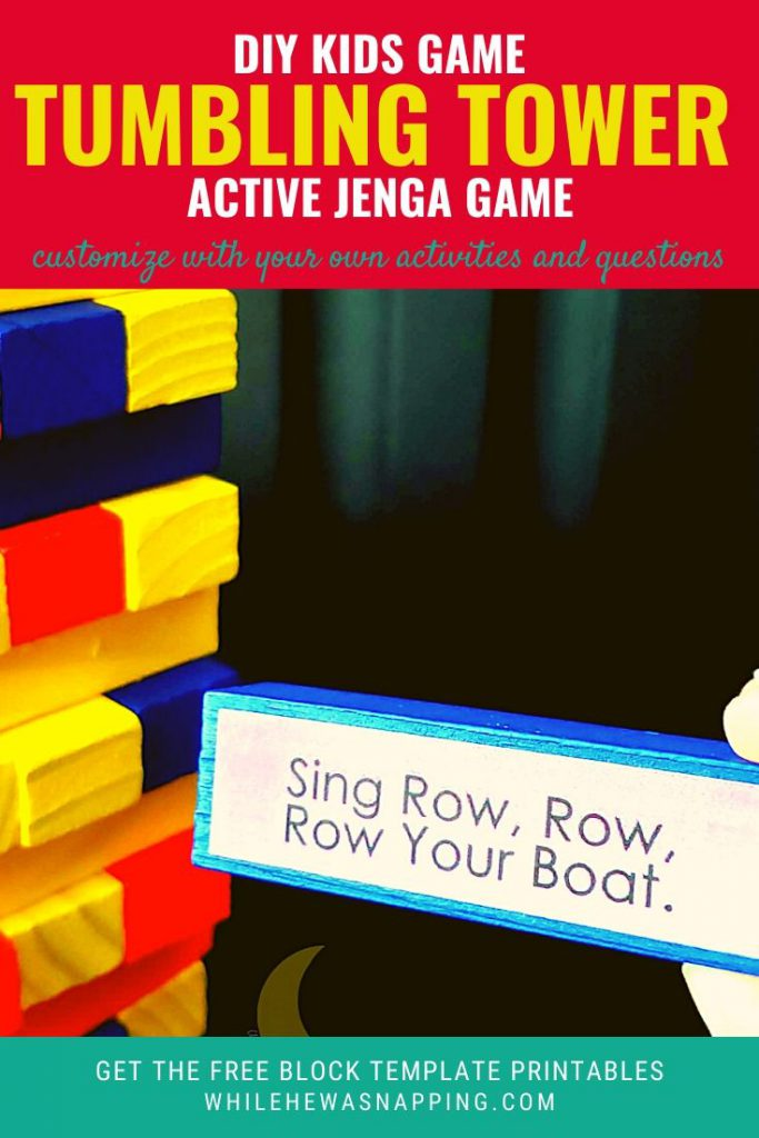 DIY Active Tumbling Tower Kids Game