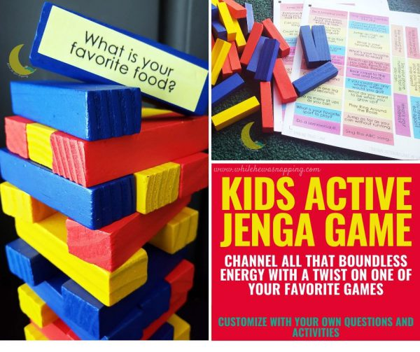 Create this fun kids game and keep them active with Active Jenga for Kids